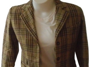 Burberry Wool Vintage Multi Plaid Blazer