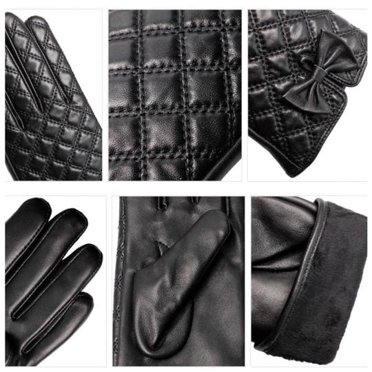 ME-Boutiques Private Label Collection The Ashley Leather Quilted Gloves C16 SIZE 7