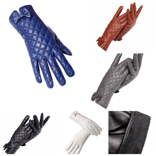 ME-Boutiques Private Label Collection The Ashley Leather Quilted Gloves C16 SIZE 7.5