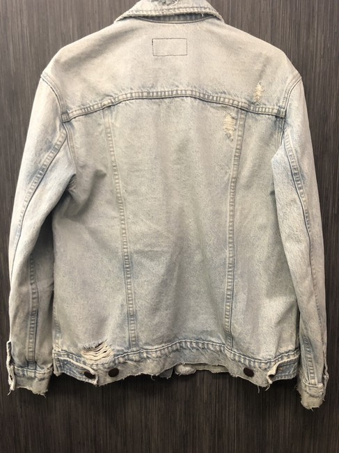 Current/Elliott #pearls Light Wash Denim Womens Jean Jacket Image 6