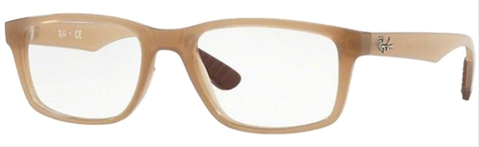 9b775ed19c9 Ray-Ban Transparent Beige Frame   Demo Lens Unisex Rectangular ...