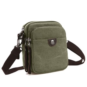 Dasein The Treasured Hippie Vintage Designer Inspired Affordable Bags Small Bags Army Green Messenger Bag