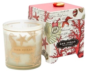 Michel Design Works Red Coral Soy Candle 6.5oz - Scent: Ocean Air (BRAND NEW)