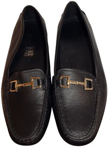 Gucci Loafers Leather Driving Horsebit Black Flats
