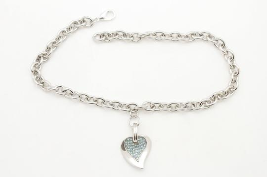 Alwaystyle4you Women Silver Boot Metal Chain Big Silver Heart Anklet Shoe Bling Charm