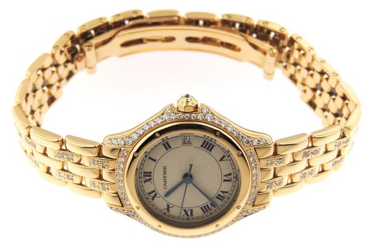 Cartier Ladies Cartier Cougar Panthere Diamond 18K Solid Gold Date Watch