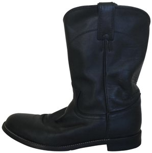 Justin Boots Leather Black Boots