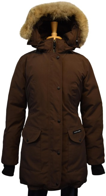 Item - Brown Duck Down Insulated Coat Size 6 (S)