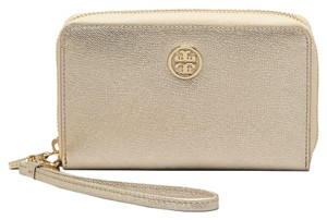 Tory Burch Wristlet in Gold/Gold