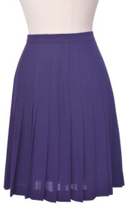 Escada Vintage Wool Casual Cocktail Skirt purple