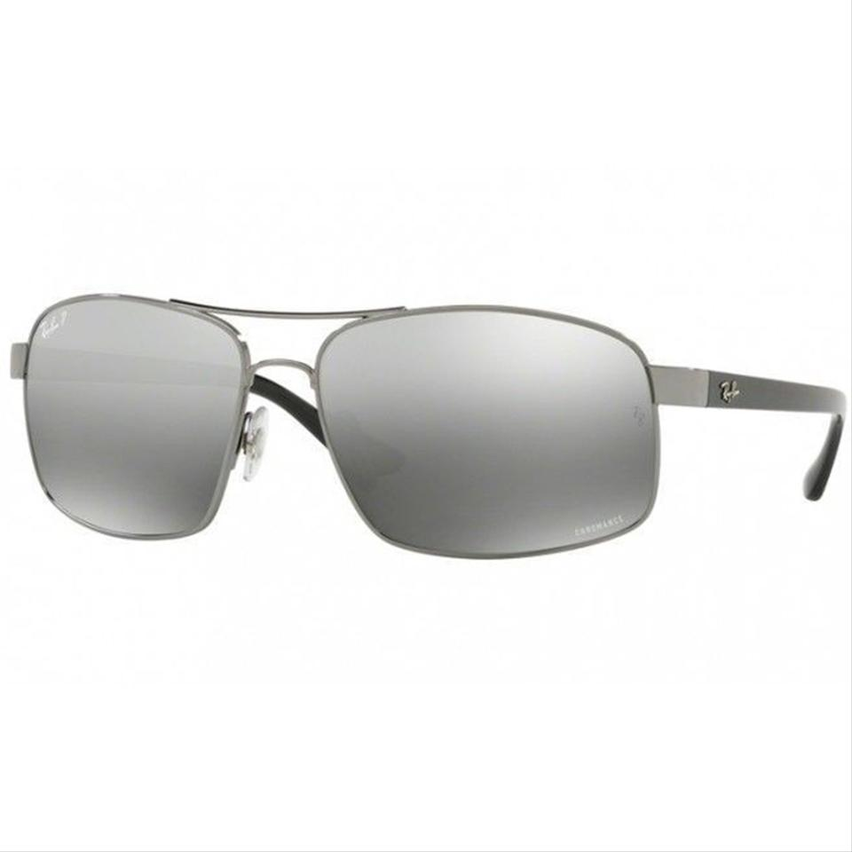 e3511db0cc0 Ray-Ban Gunmetal Frame   Grey Gradient Mirrored Lens. Unisex Square  Sunglasses