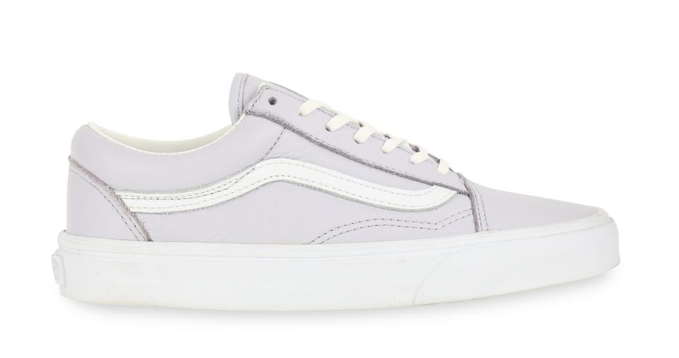 1a99c190a7 Vans Purple Old Skool Lace-up Lilac Tumbled Leather Sneakers Size US ...