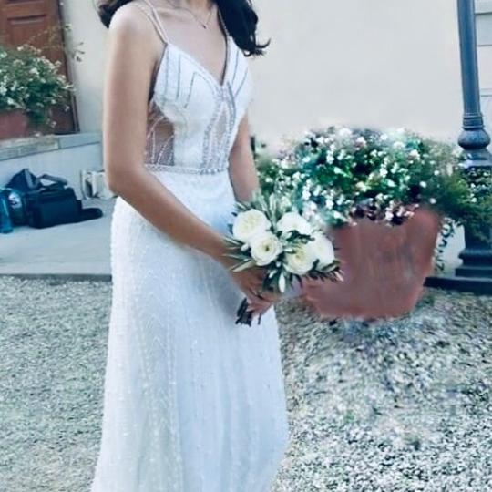 Preload https://img-static.tradesy.com/item/24268393/white-beaded-tulle-crystals-and-pearls-destination-wedding-dress-size-2-xs-0-0-540-540.jpg