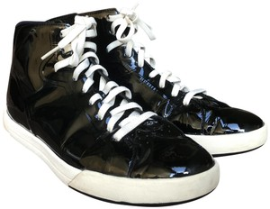 Cole Haan Sneakers Patent Leather Hi Tops Black Athletic