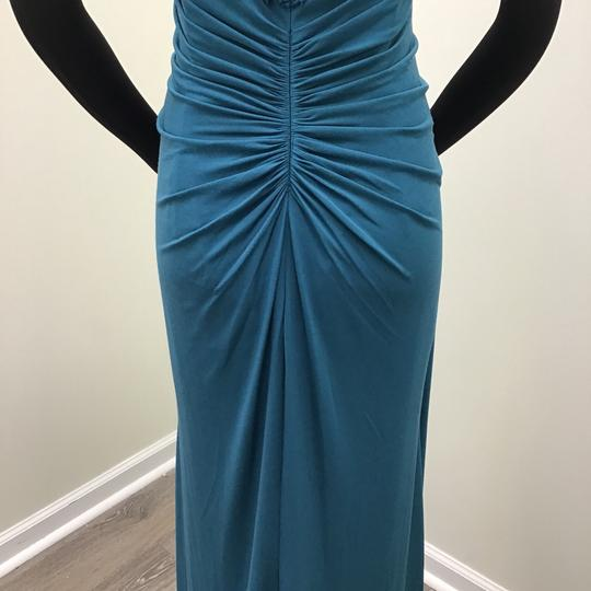 Jade Couture Teal Matte Jersey/Lace J195058 Formal Bridesmaid/Mob Dress Size 12 (L)