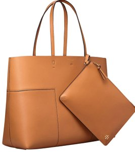8506195c4 Added to Shopping Bag. Tory Burch Tote in British tan. Tory Burch Block-T  ...