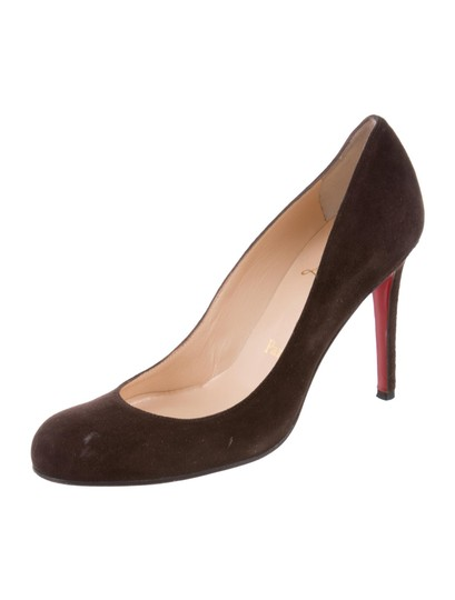 Christian Louboutin Suede Redbottom Brown Pumps