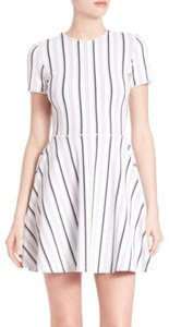 Opening Ceremony short dress N W O T - White with Black and Grey Striped on Tradesy