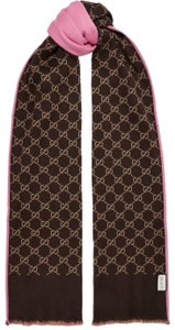 Gucci Reversible intarsia wool and silk-blend scarf