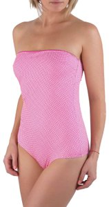 Pin-Up Stars New Women US S / 42 EU Pink Underwire Bandeau One Piece Swimsuit