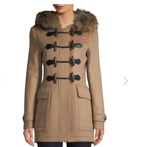 Burberry Winter Fur Hooded Pea Coat