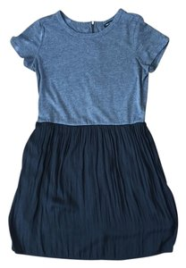 Mango short dress Gray/Black T-shirt Color-blocked on Tradesy