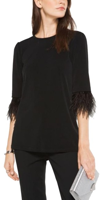 Preload https://img-static.tradesy.com/item/24268785/michael-michael-kors-feather-embroidered-matte-jersey-black-top-0-3-650-650.jpg