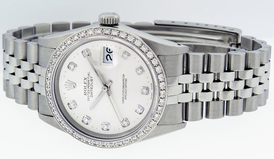Rolex Rolex Mens Datejust SS/18K White Gold with Silver Diamond Dial