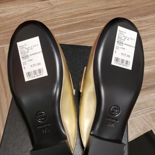 Chanel 36.5 New Light Gold Mules Image 1