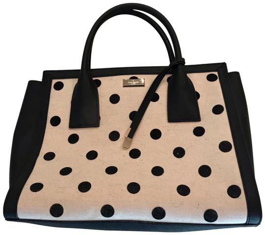 Preload https://img-static.tradesy.com/item/24268923/kate-spade-dot-tote-leather-and-canvas-satchel-0-3-540-540.jpg