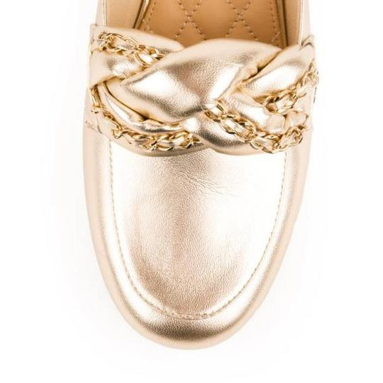 Chanel New 37.5 Light Gold Mules Image 3