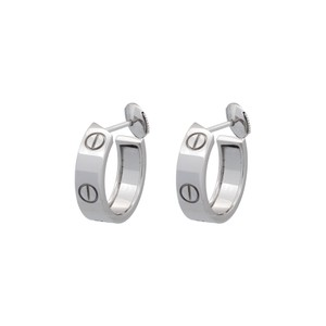 Cartier 18k White Gold Wide Love Earrings