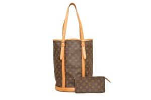 Louis Vuitton Monogram Shopper Shoulder Bucket Gm Tote in Brown