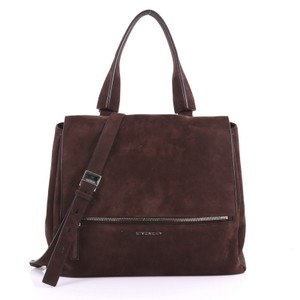 Givenchy Suede Satchel in brown