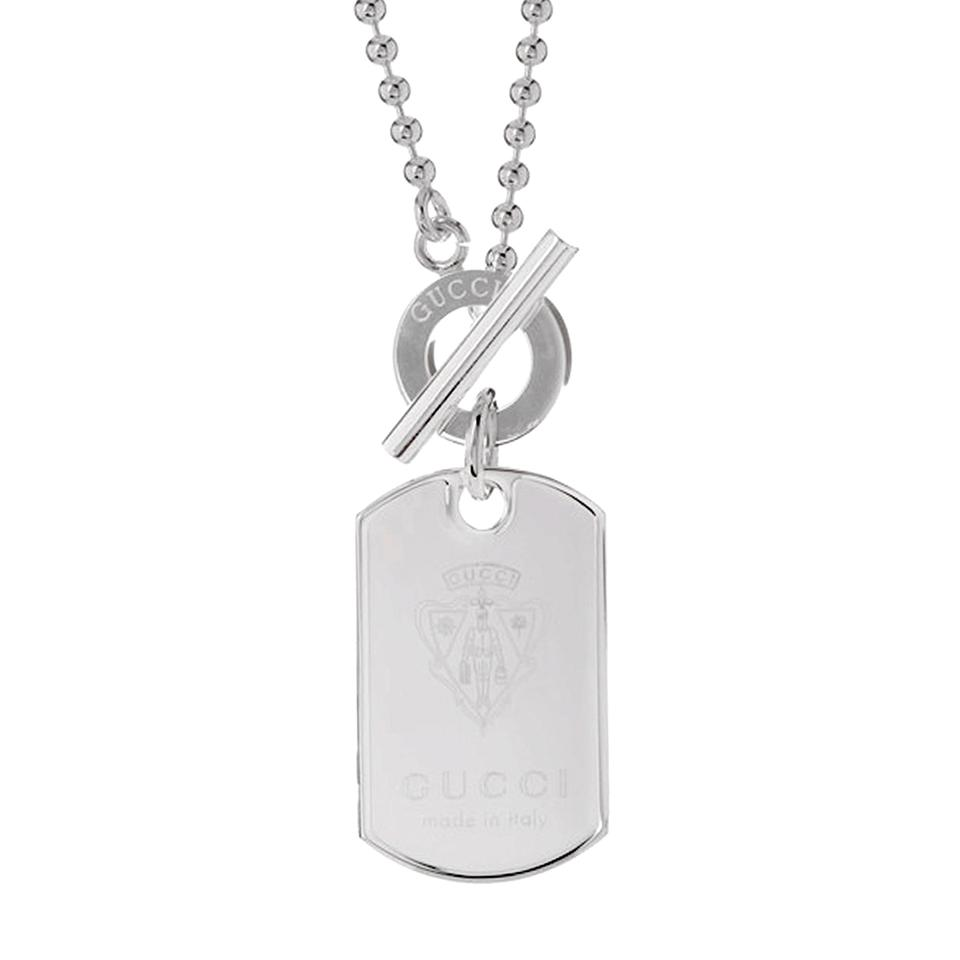 26c7b938d Gucci Gucci Crest Dog Tag Silver Necklace 0000693 Image 0 ...