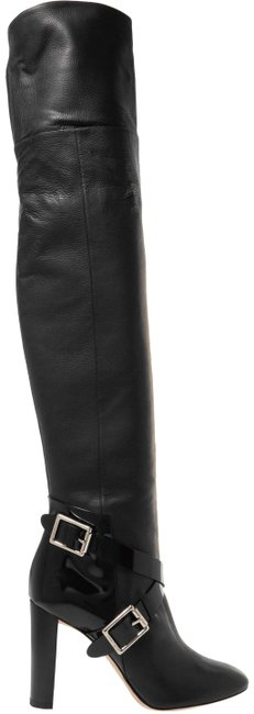 Item - Black Doma Buckled Leather Over-the-knee Boots/Booties Size EU 40 (Approx. US 10) Regular (M, B)