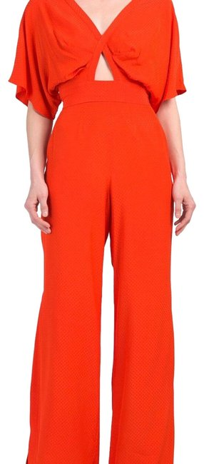 Item - Red Coral Holly 2pc Crop Top and Wide Pant Asey Romper/Jumpsuit