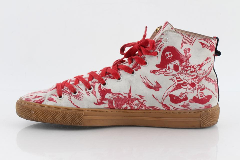 82f417b10498 Gucci Multicolor Sea Storm Print High-top Sneaker Shoes Image 11.  123456789101112