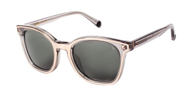 Item - Grey Acrylic Chelsea Metal Accent Square Sunglasses
