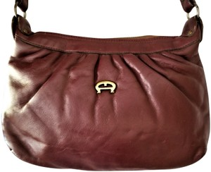 a8fe5f8c5705 Etienne Aigner Vintage Redish Brown Leather Shoulder Bag - Tradesy