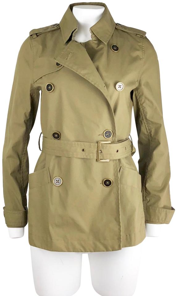 4b151124e46 Old Navy Olive Green Belted Jacket Size 8 (M) - Tradesy