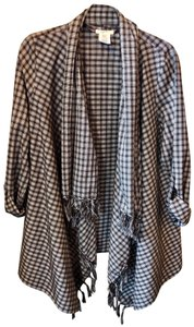 Mystree Checkered Cotton Polyester Rayon Brown Jacket