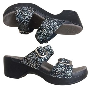 Dansko black and blue Sandals