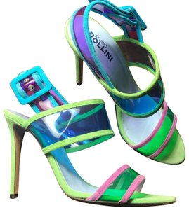 Pollini green and blue and purple Pumps