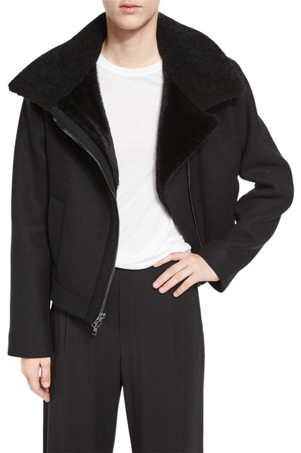 Preload https://img-static.tradesy.com/item/24269908/vince-black-shearling-collar-moto-jacket-size-0-xs-0-5-650-650.jpg