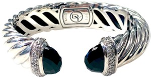 David Yurman David Yurman 15mm Waverly Cuff Diamonds & Onyx