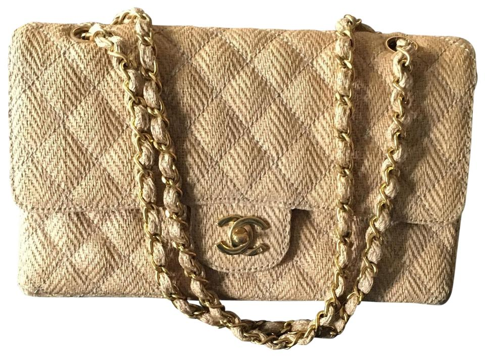 0dc2a33bdfcb Chanel Classic Flap Quilted Straw Tan Raffia Shoulder Bag - Tradesy