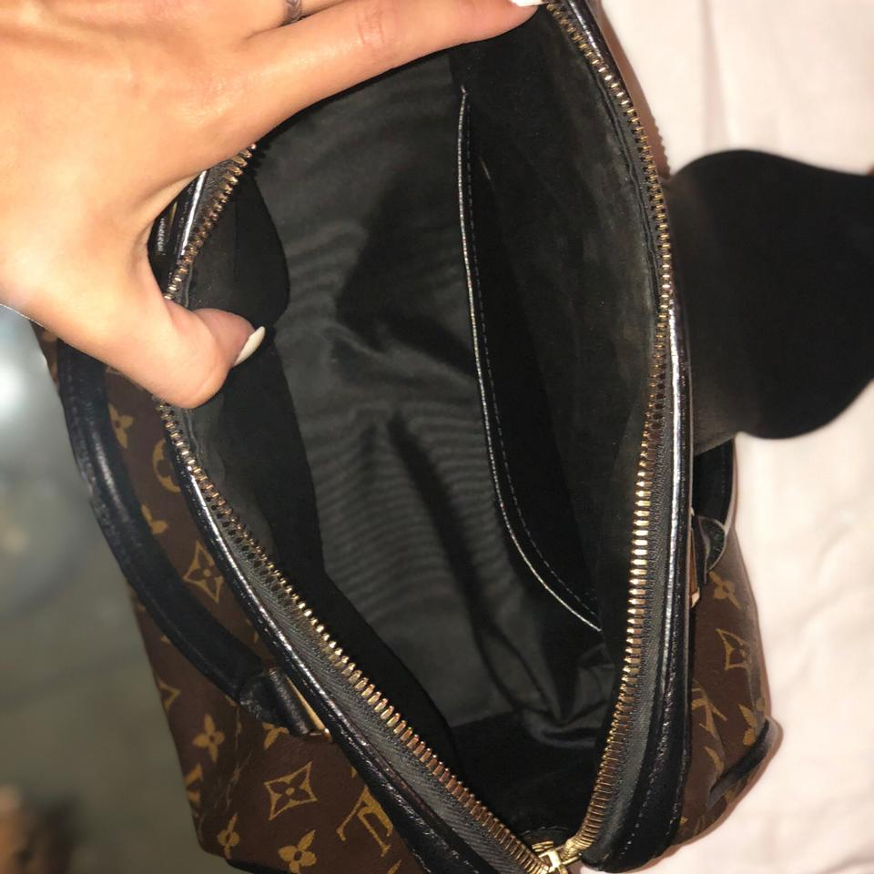 7a3bf3f12cc0 Louis Vuitton Satchel in monogram with black trim and gold hardware Image  11. 123456789101112