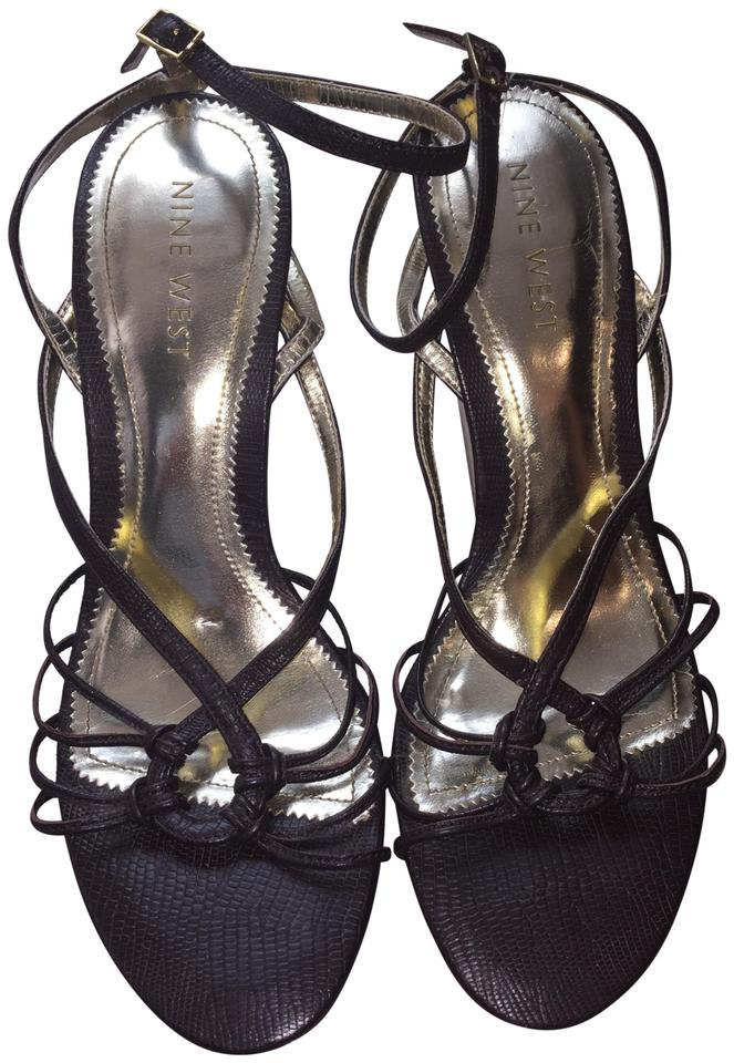d9878140a58a Nine West Brown Strappy High Sandals Size US 7 Regular (M