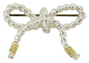 Tiffany & Co. Tiffany & Co. Sterling Silver 18kt Bow Pin 6.46g